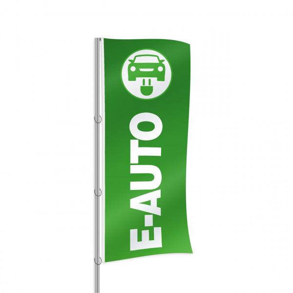 """Fahne """"E-Mobilität"""", Design grün"""