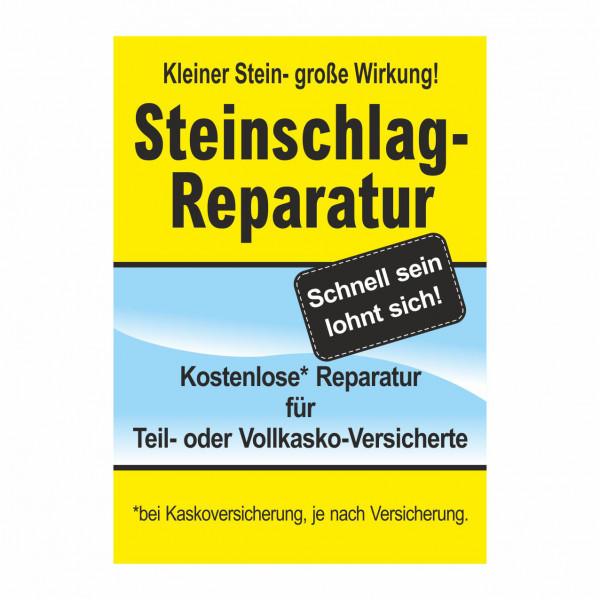 """Plakat DIN A1 """"Steinschlag-Reparatur"""""""