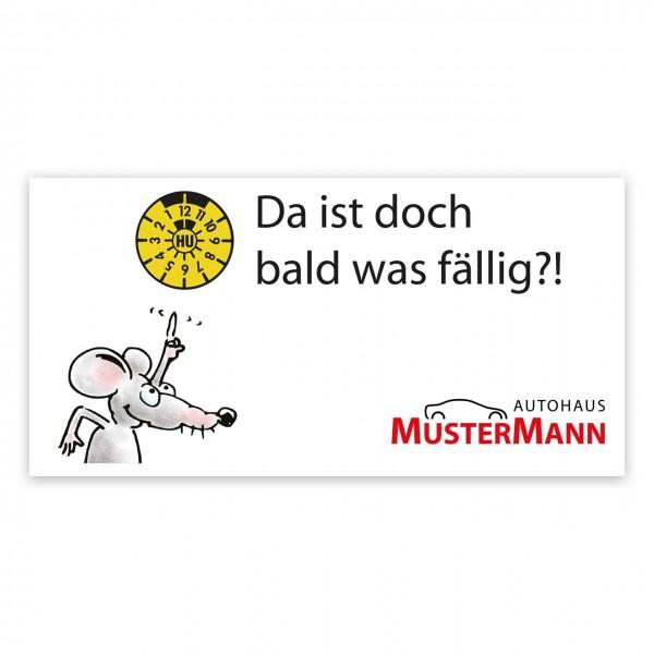 "Maxi-Postkarte ""HU/AU-Erinnerung"", Motiv: Mäuschen"