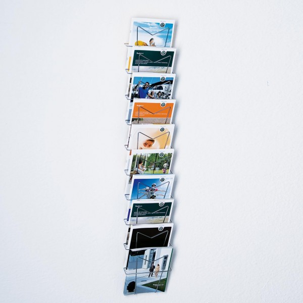 Wandprospekthalter für 10 x DIN A4