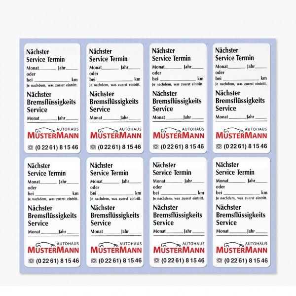Service-Etiketten aus Papier, weiß, Größe: 34 x 65 mm