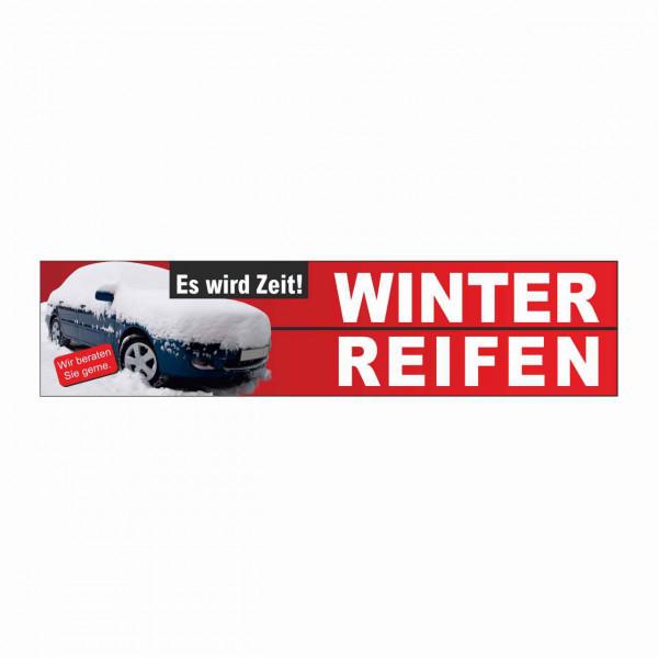 """Werbebanner """"Zeit für Winterreifen"""", 300 x 70 cm"""