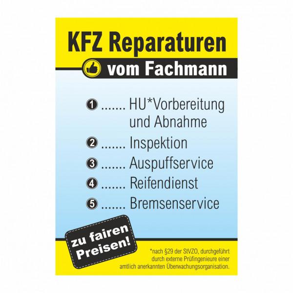 """Plakat DIN A0 """"KFZ Reparaturen vom Fachmann"""""""