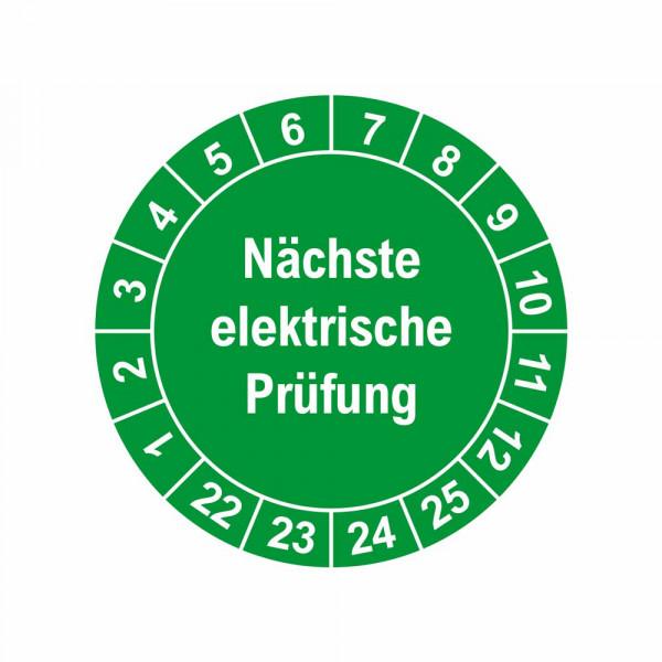 """Prüfplaketten """"elektrische Prüfung"""" Ø 30 mm"""
