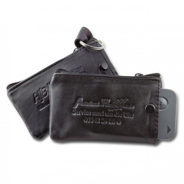 Schlüsseltasche aus Ziegenleder mit Zusatzfach für Keycards