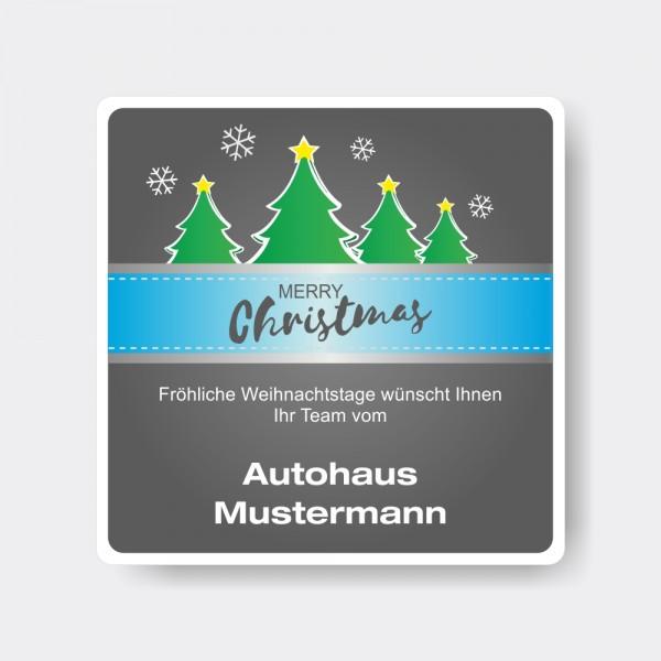 Weihnachts-Aufkleber aus PVC, quadratisch, Motiv 4