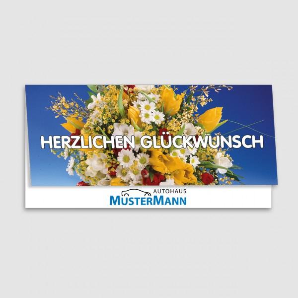 """Geburtstags-Klappkarte, Motiv """"Bunter Strauß"""""""