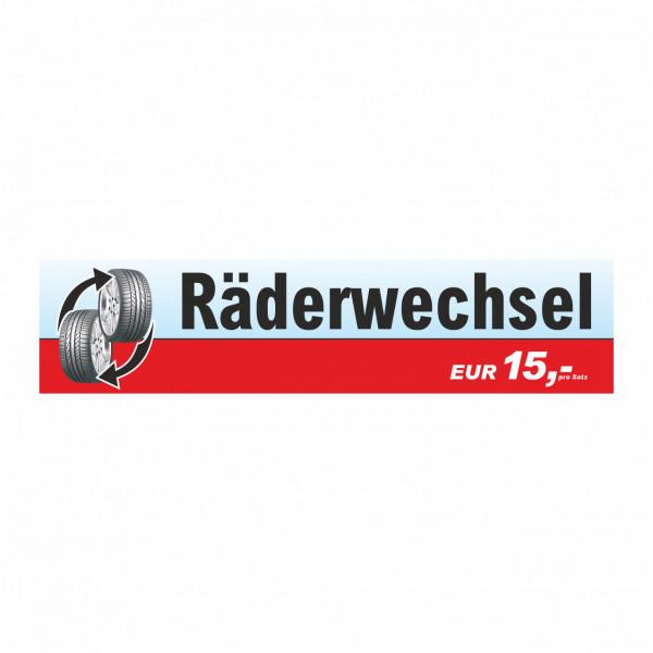 """Werbebanner """"Räderwechsel"""", 300 x 70 cm"""