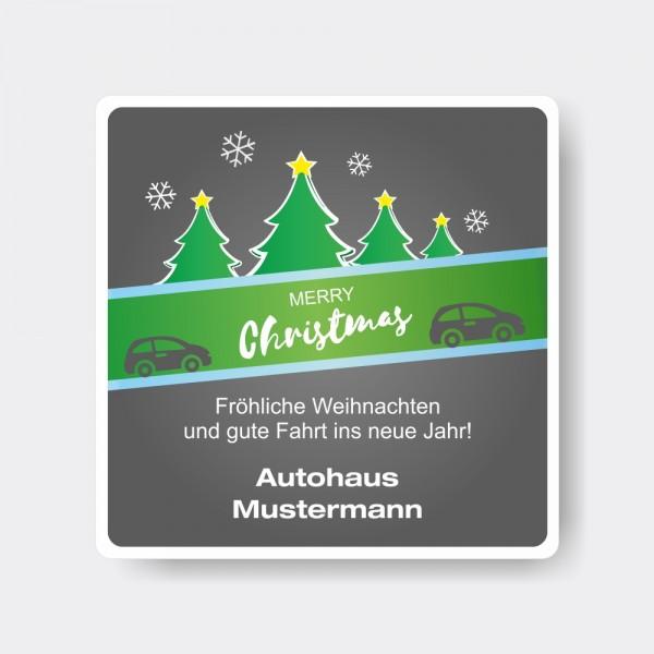 Weihnachts-Aufkleber aus PVC, quadratisch, Motiv 3