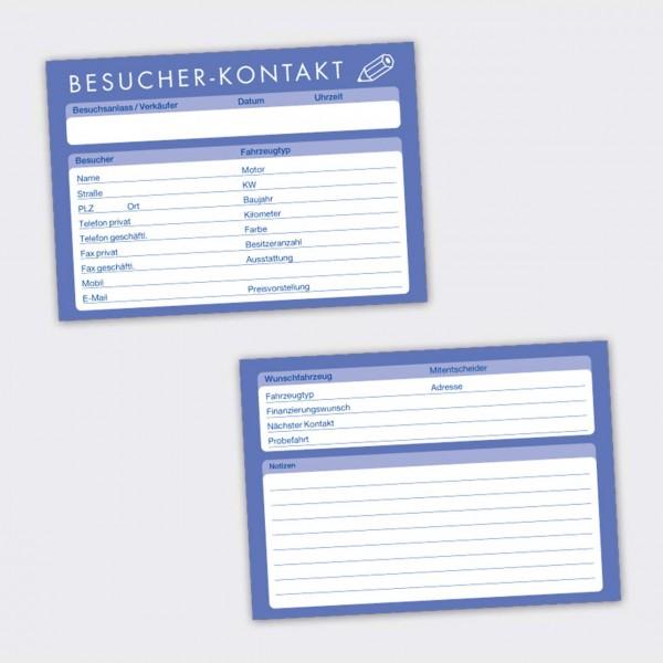 Besucher-Kontaktkarten. DIN A6