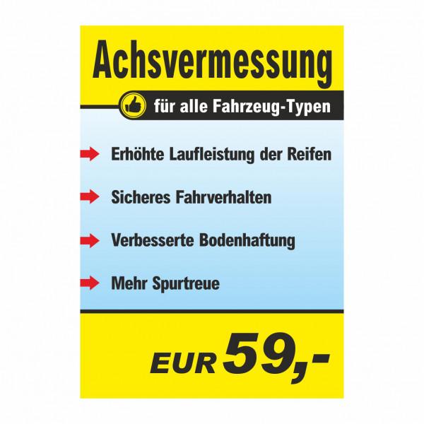 """Plakat DIN A0 """"Achsvermessung"""""""