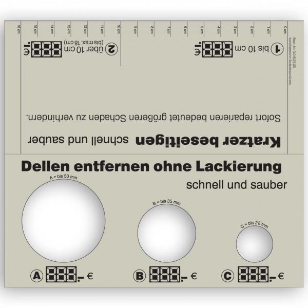 Dellen- und Kratzer-Schablone