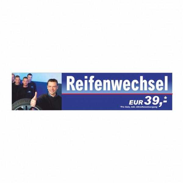 """Werbebanner """"Reifenwechsel"""", 300 x 70 cm"""