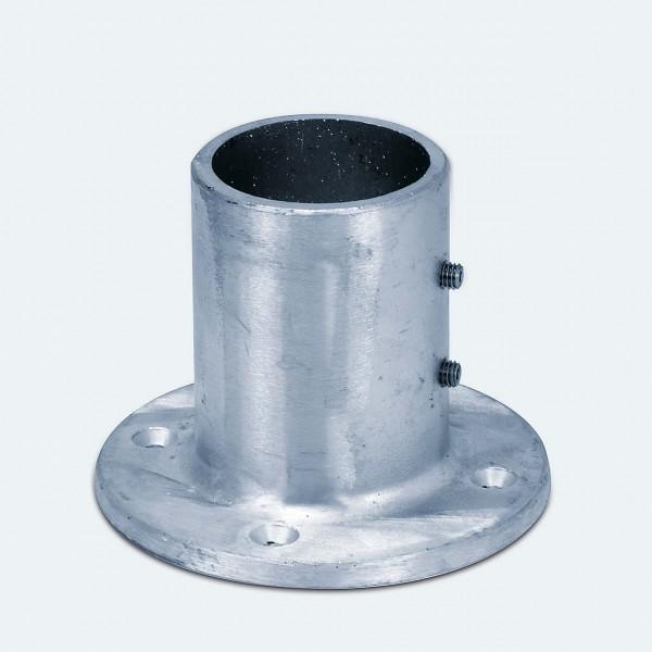 Bodenlager für Alu-Rohre mit 60 mm Außendurchmesser