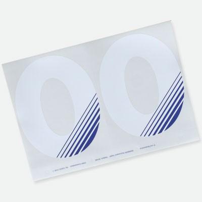 Einzelziffer, Dynamic Line, Design blau
