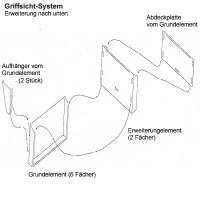 Erweiterungselement für Griffsicht-Wandhalter DIN A4
