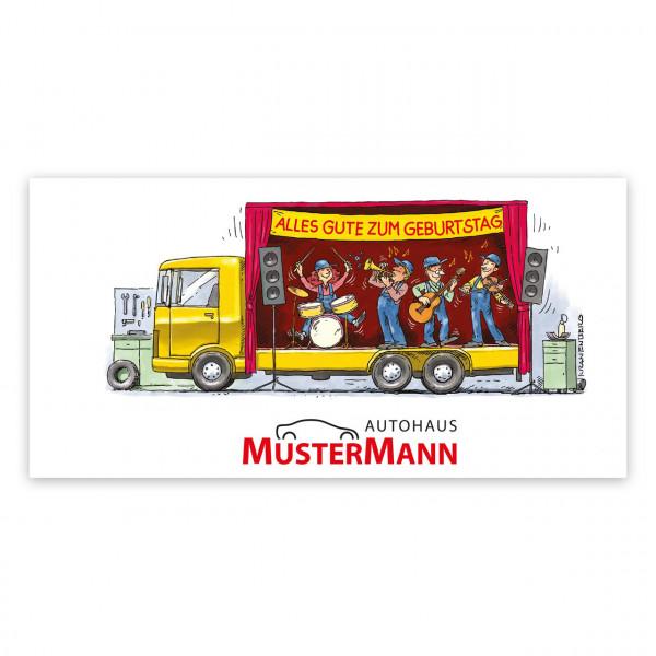 Geburtstags-Maxi-Postkarte, Motiv: Big-Band