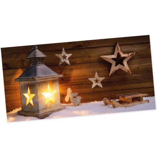"""Weihnachts-Postkarte, Motiv """"Laterne"""""""