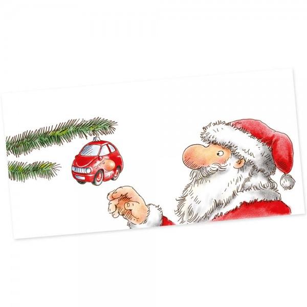 """Weihnachts-Postkarte, Motiv """"Baumschmuck"""""""