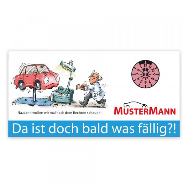 "Maxi-Postkarte ""HU/AU-Erinnerung"", Motiv: Gesundheits-Check"