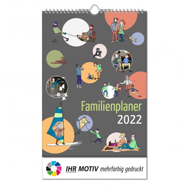"""Bildkalender """"Familienplaner"""", Wire-O Bindung, Ausgabe 2022"""