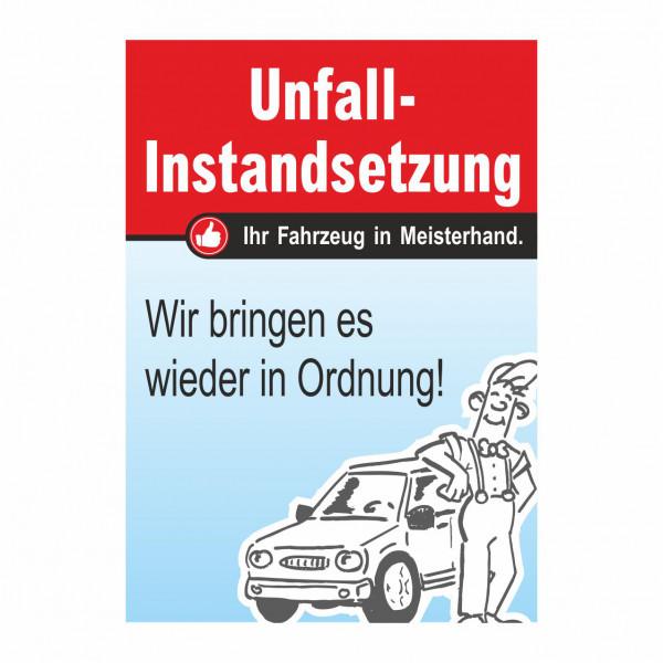"""Plakat DIN A1 """"Unfall-Instandsetzung"""""""