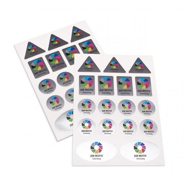 Stickerbogen Folie silber metallic