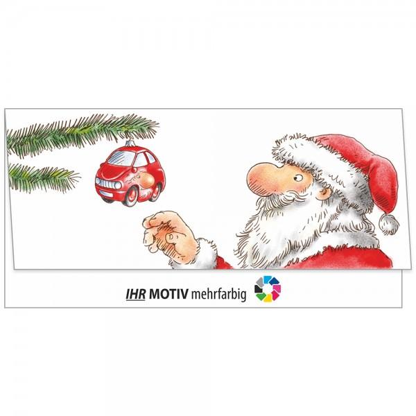 """Weihnachts-Klappkarte, Motiv """"Baumschmuck"""""""