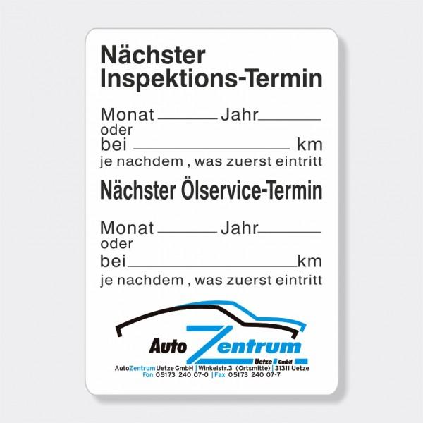 "Service-Aufkleber aus PVC-Folie, Größe: 45 x 65 mm, Motiv ""Inspektion / Ölservice"""