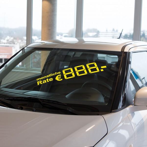 LCD-Ratenpreis, gelb