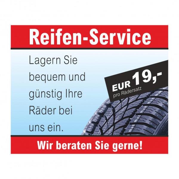 """Werbebanner """"Reifen-Service - Rädereinlagerung"""", 274 x 174 cm"""