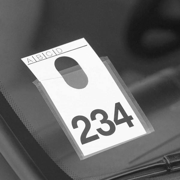 Klarsichttaschen zur Fahrzeug-Kennzeichnung