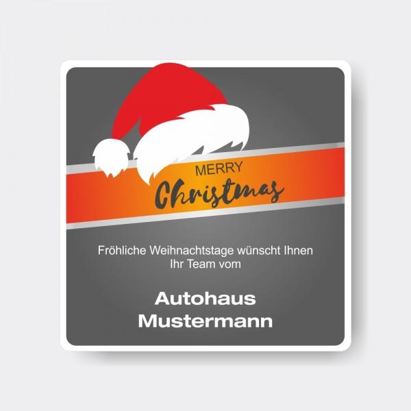 Weihnachts-Aufkleber aus PVC, quadratisch, Motiv 6