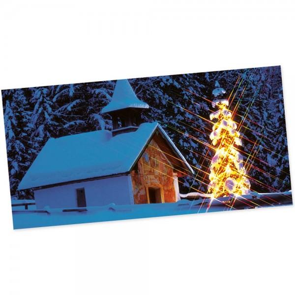 "Weihnachts-Postkarte, Motiv ""Winternacht"""