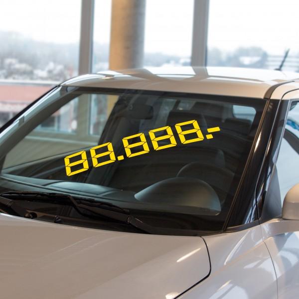 LCD Gesamtpreis, gelb