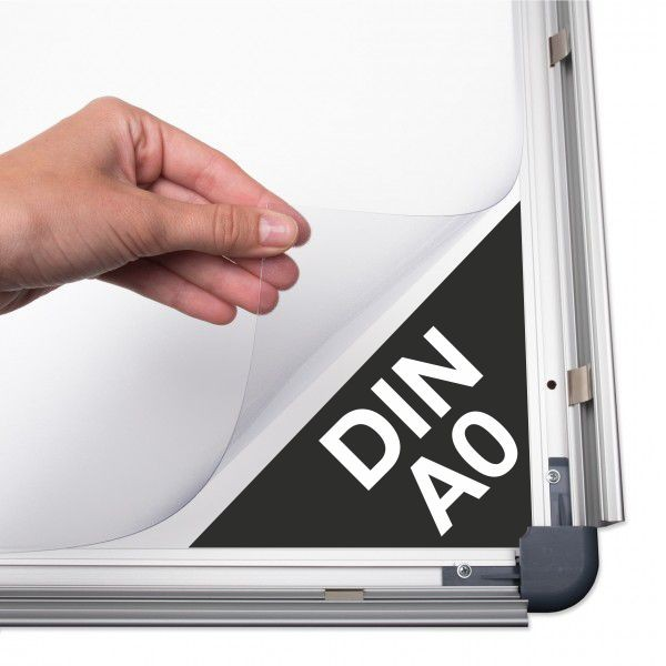 Antireflex-Schutzfolie für Plakatrahmen DIN A0 (841 x 1189 mm)