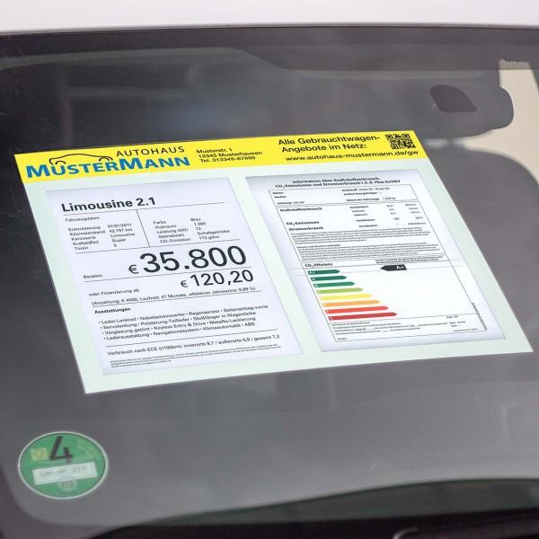 """Hafttasche """"Magic-Pocket"""" mit Werbeeinleger, Abb. 2 x DIN A4 Hochformat"""