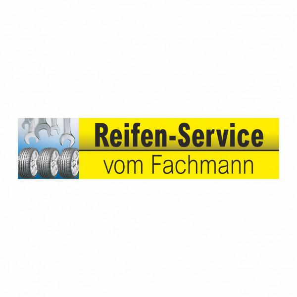 """Werbebanner """"Reifen-Service vom Fachmann"""", 300 x 70 cm"""