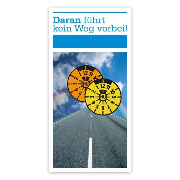 "Maxi-Postkarte ""HU/AU-Erinnerung"", Motiv ""Straße"""