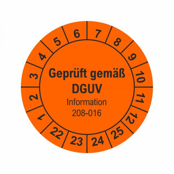 Prüfplakette Leitern und Tritte DGUV 208-016 Ø 30 mm