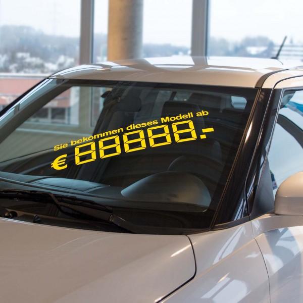 LCD-Modellpreis, gelb