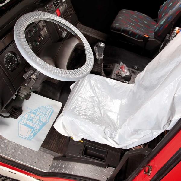 Einweg-Fahrzeugschutzartikel-Set LKW, im Umbeutel