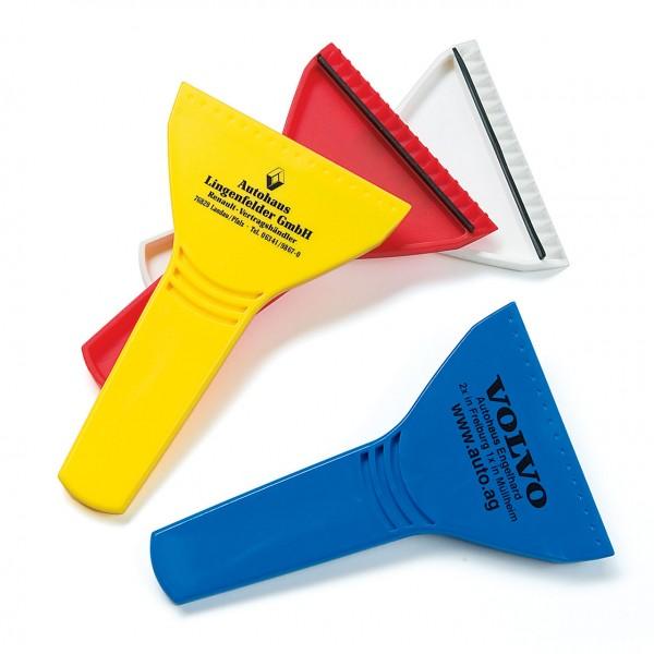 Stiel-Eiskratzer aus Hartkunststoff, Werbedruck 1-farbig