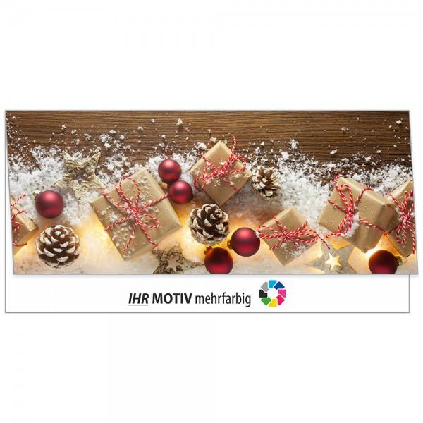 """Weihnachts-Klappkarte, Motiv """"Geschenke"""""""