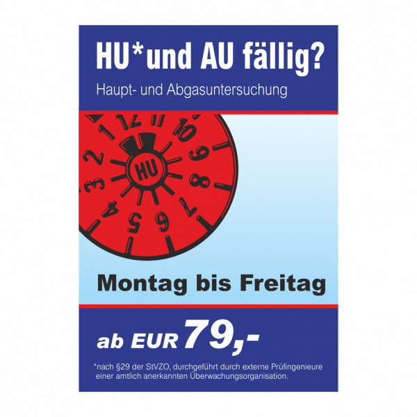 "Plakat DIN A0 ""HU und AU"""
