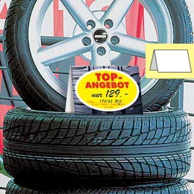 Reifen-/Räder-Preisschild, DIN A 5 quer