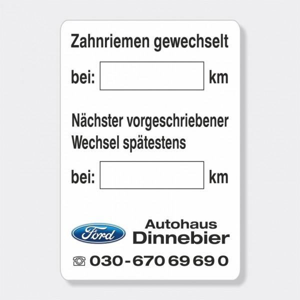 """Service-Aufkleber aus PVC-Folie, Größe: 45 x 65 mm, Motiv """"Zahnriemen / Wechsel"""""""