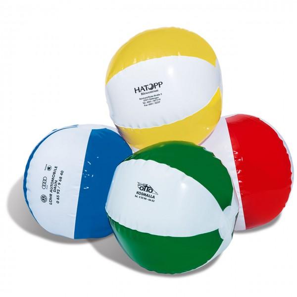 Wasserball, aufblasbar, Farbe: weiß/rot